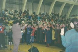 the pastor Vasily Filimonov - services at the Sports Palace 12